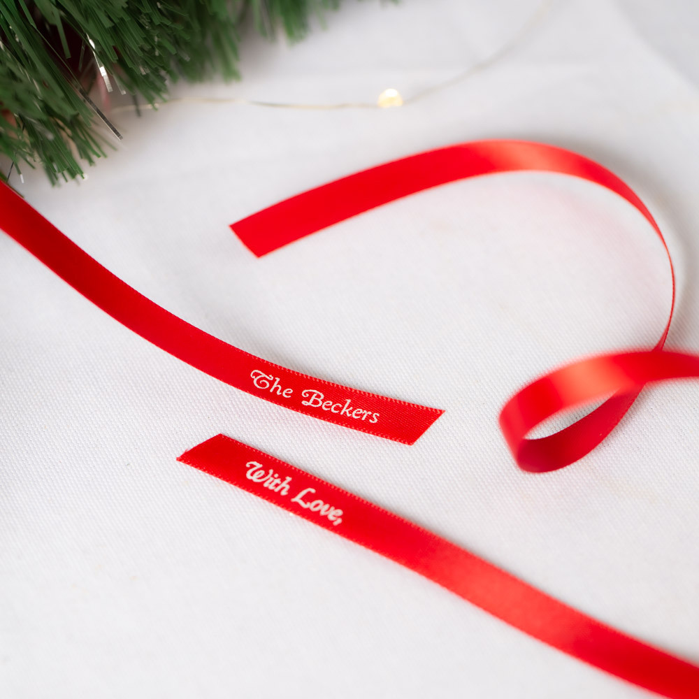 Personalized Favor Ribbon Happy Holiday