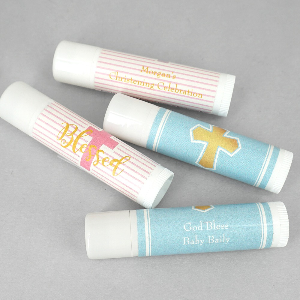 Personalized Lip Balm Religious Favor 3789