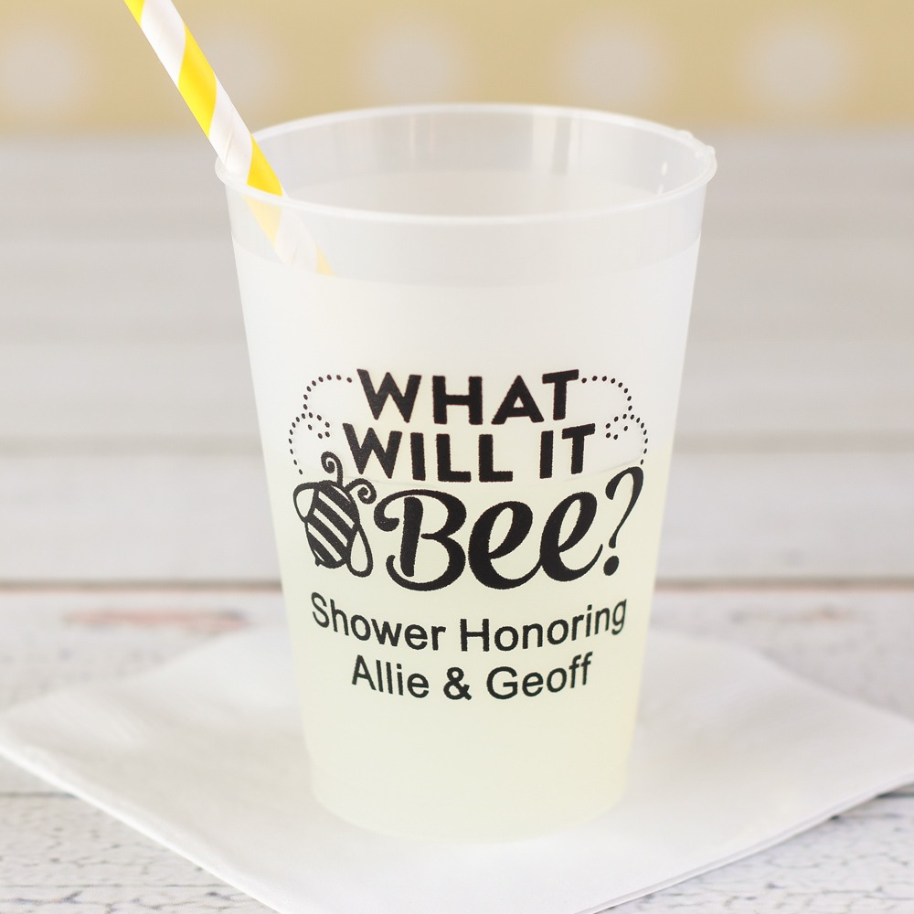 Personalized Bee Reveal Frosted Cups
