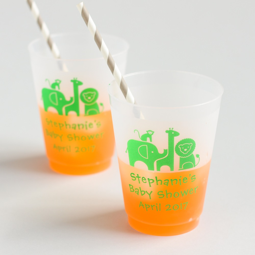 Personalized Safari Frosted Cups