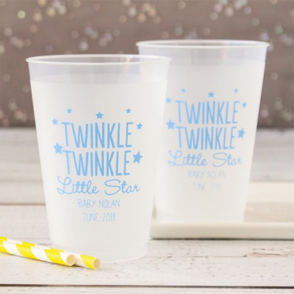 Personalized Twinkle Twinkle Frosted Cups
