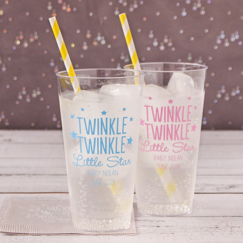 Personalized Clear Plastic Baby Shower Cups 3812