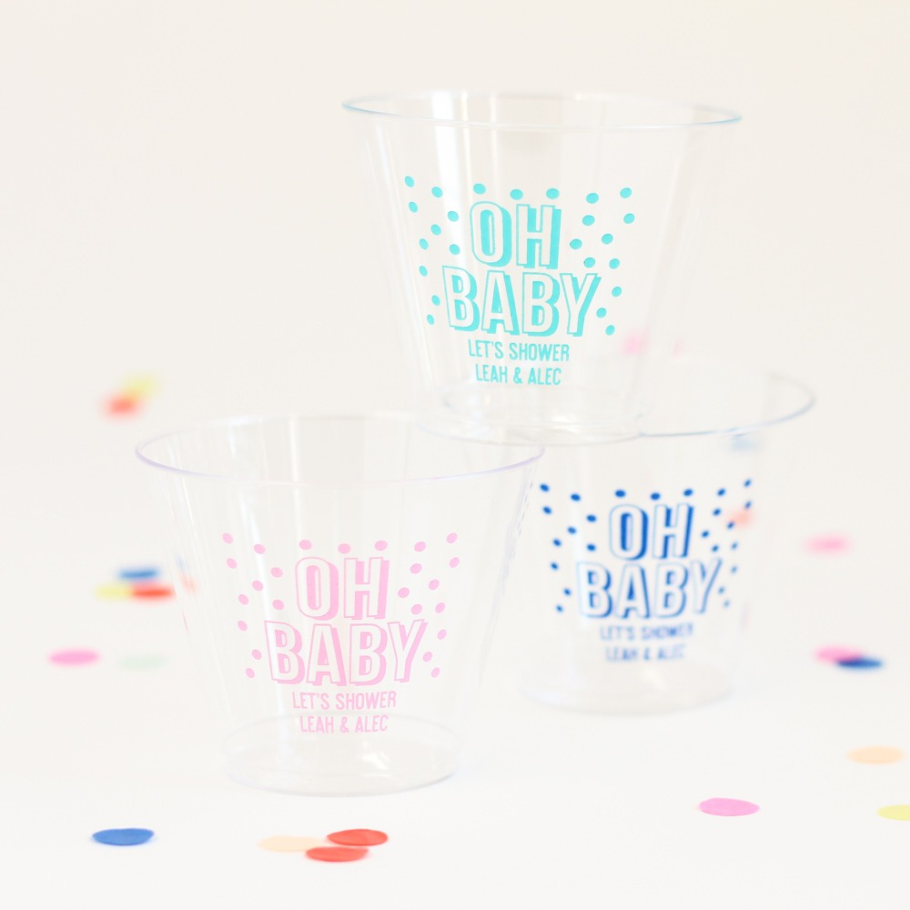 Personalized Oh Baby Plastic Cups