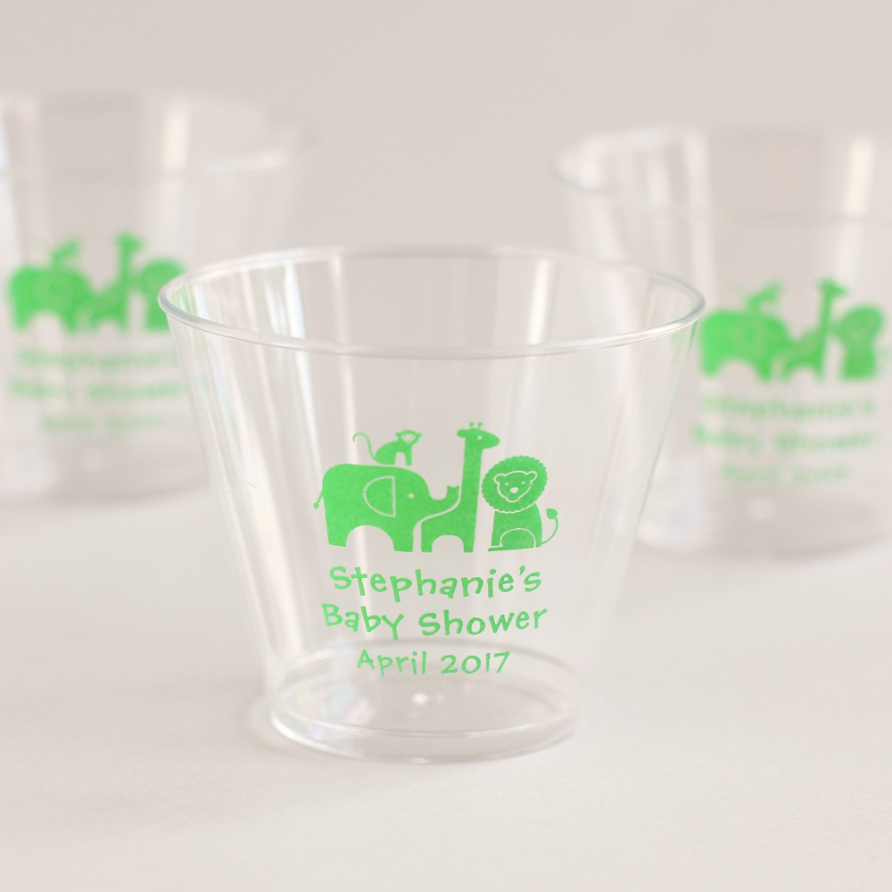 Personalized Safari Plastic Cups