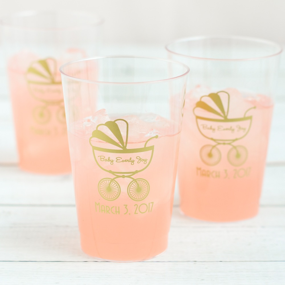 Personalized Carriage Clear Plastic Cups