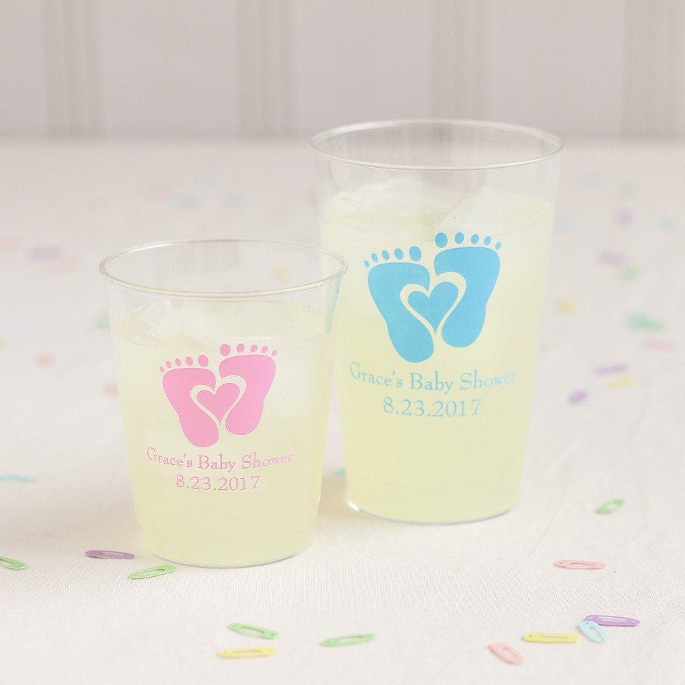 Personalized Baby Feet Plastic Cups