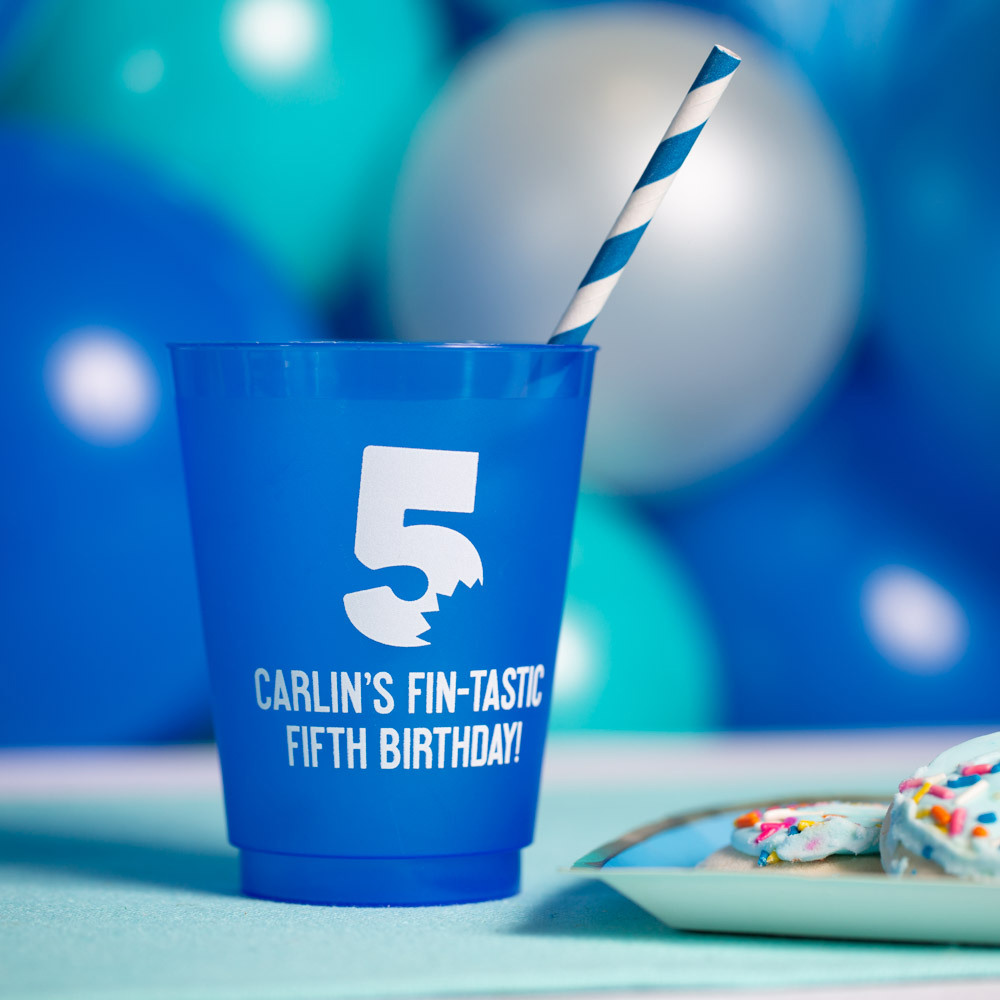 Personalized Frosted Plastic Birthday Cups 3821
