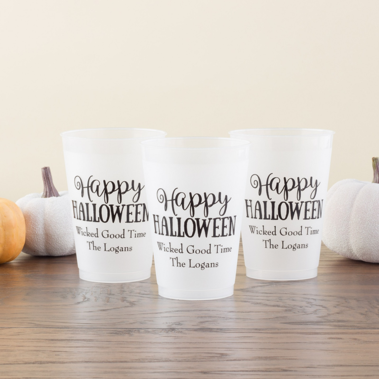 Personalized Halloween Frosted Cups