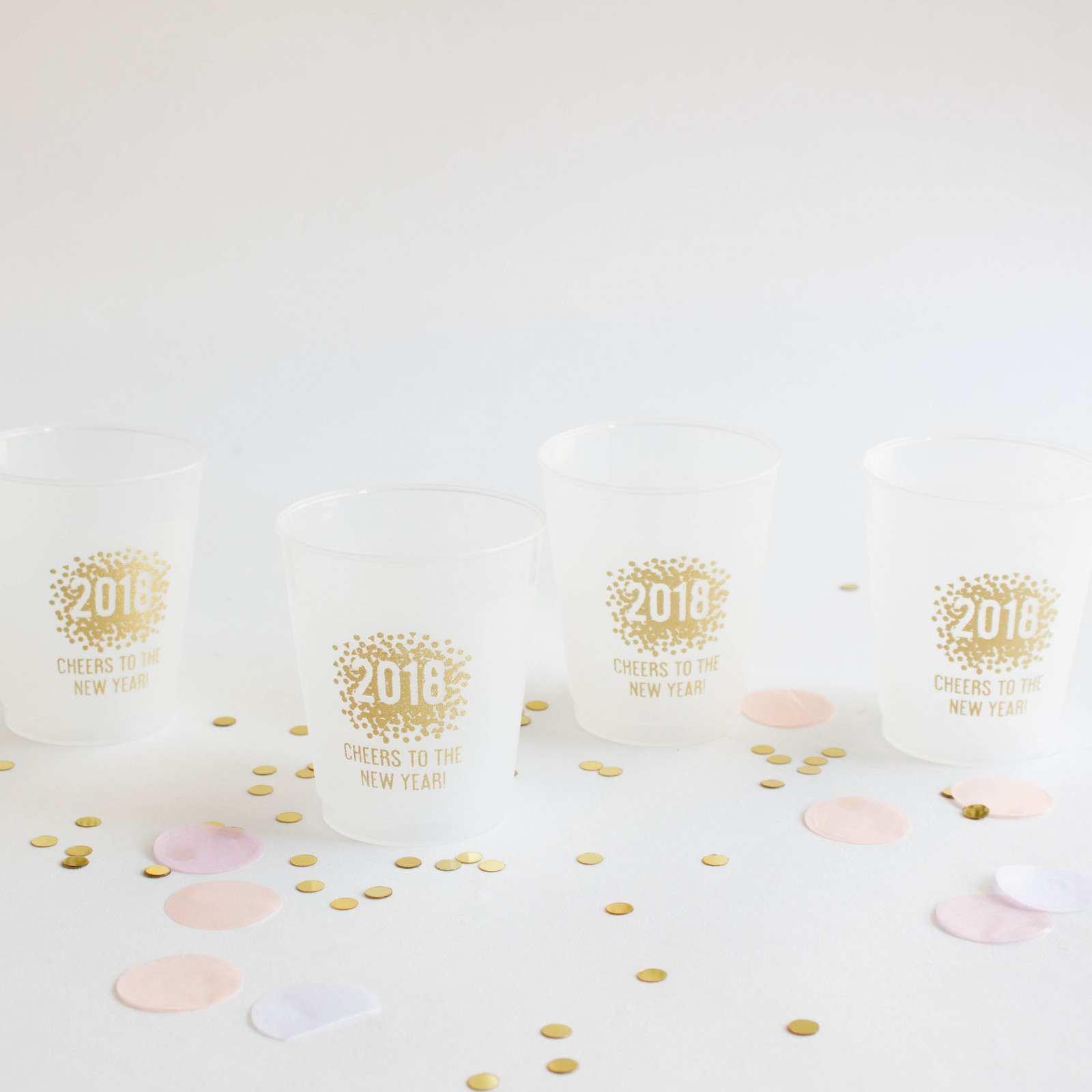 Personalized New Years Frosted Cups