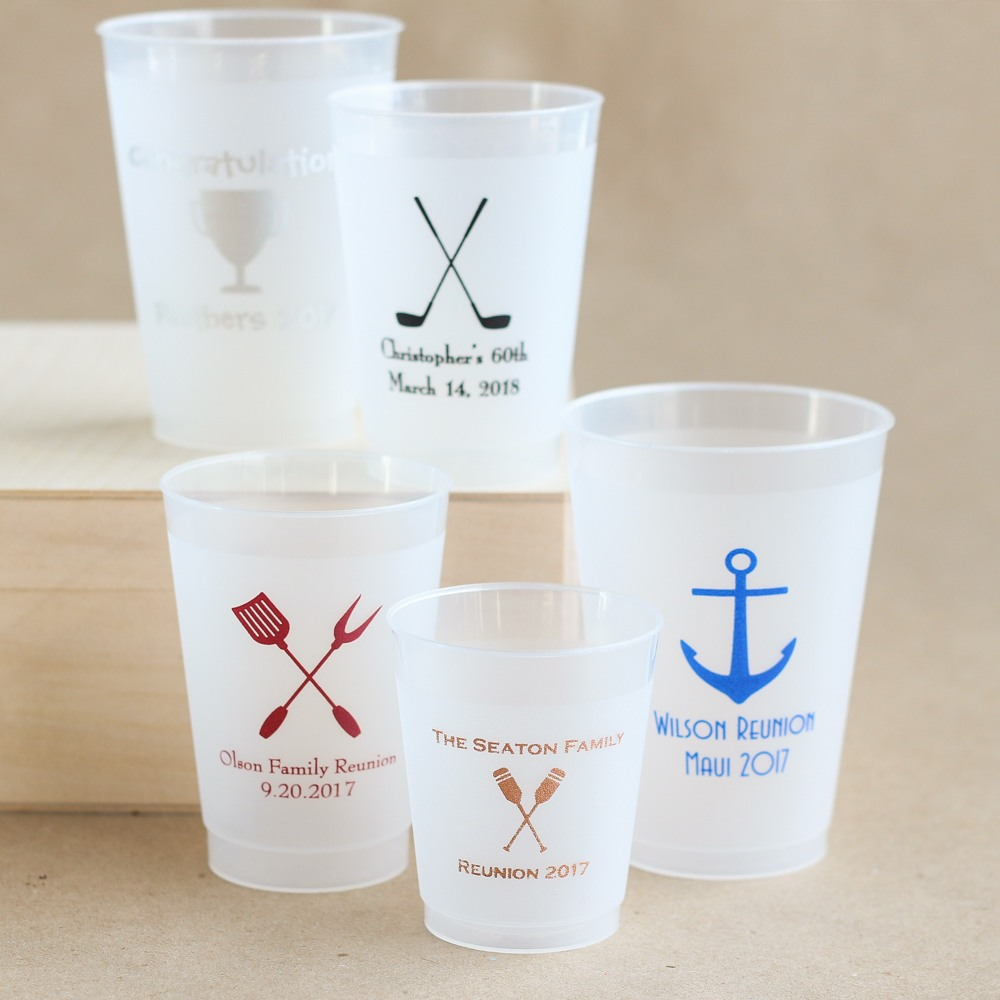 Personalized Frosted Party Cups