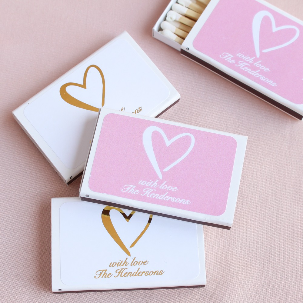 Personalized Heart Matchboxes