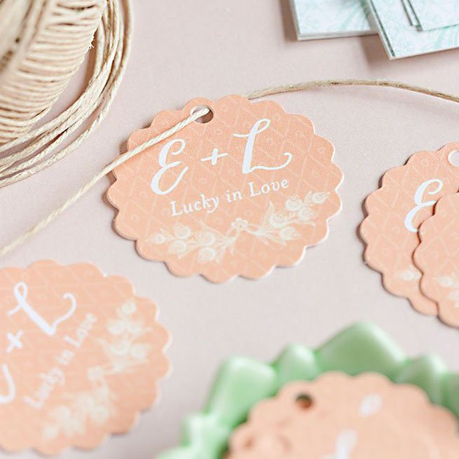 Personalized Scalloped Tags