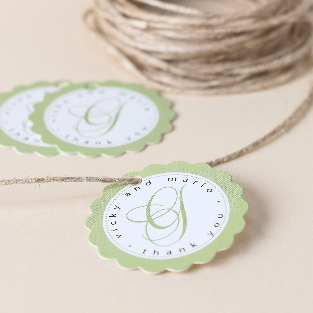 Personalized Scalloped Bridal Gift Tags