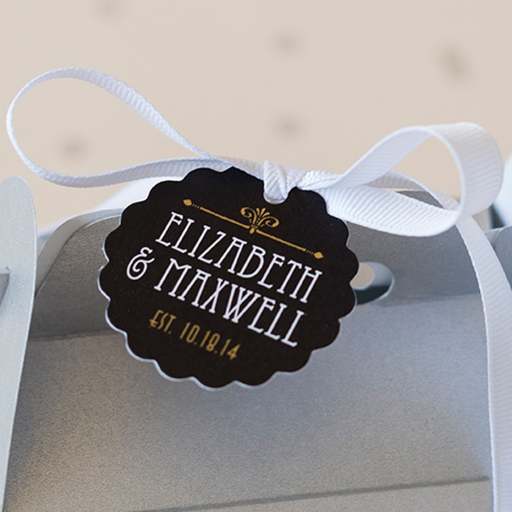 Personalized Scallped Gift Tags