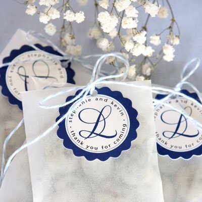 Personalized Scalloped Favor Tags