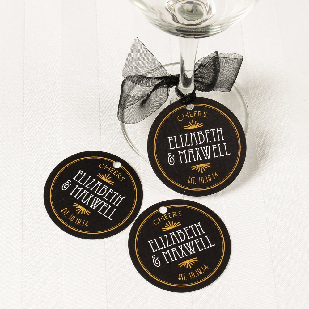 Personalized Round Wedding Favor Gift Tags 4037