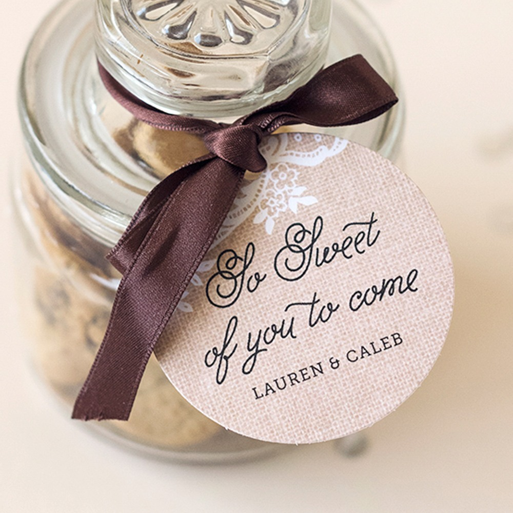 Personalized Round Wedding Tags