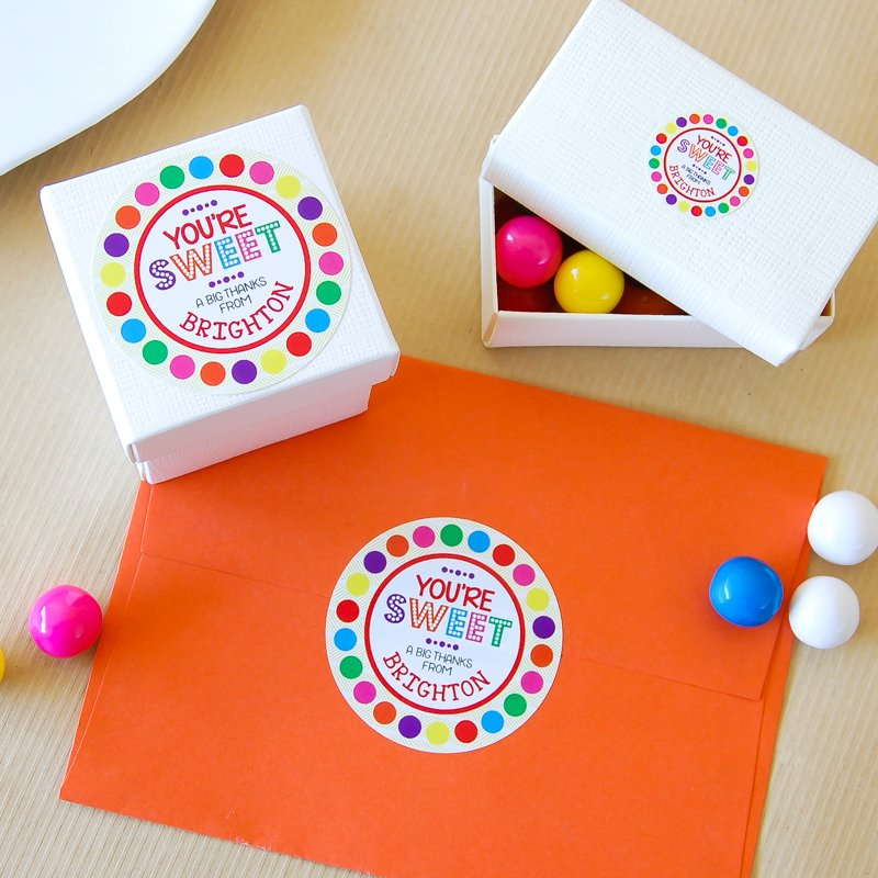 Personalized Round Birthday Labels 4048