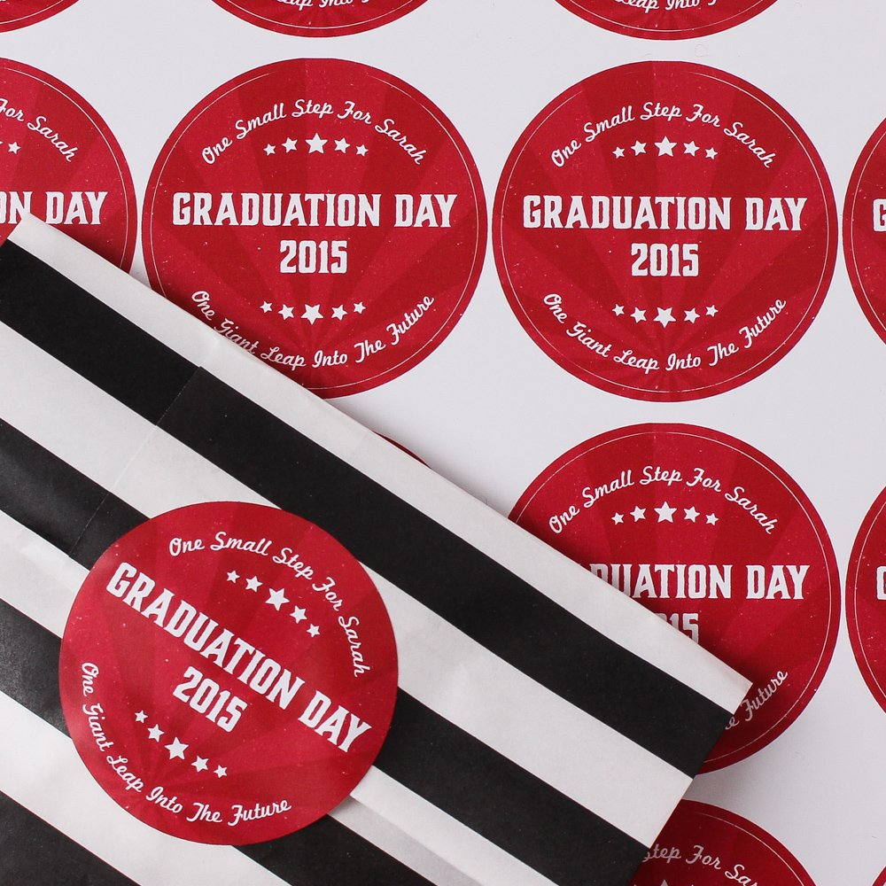 Personalized Round Party Labels 4058