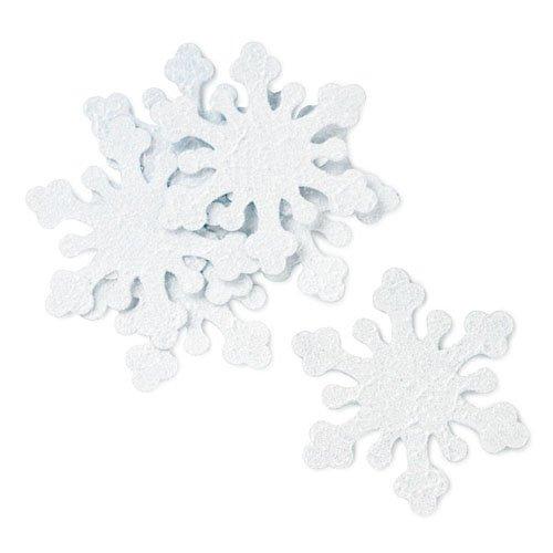 White Iridescent Snowflakes Confetti 4082