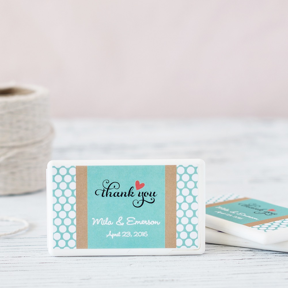 Personalized Wedding Mini Mint Pack 4239