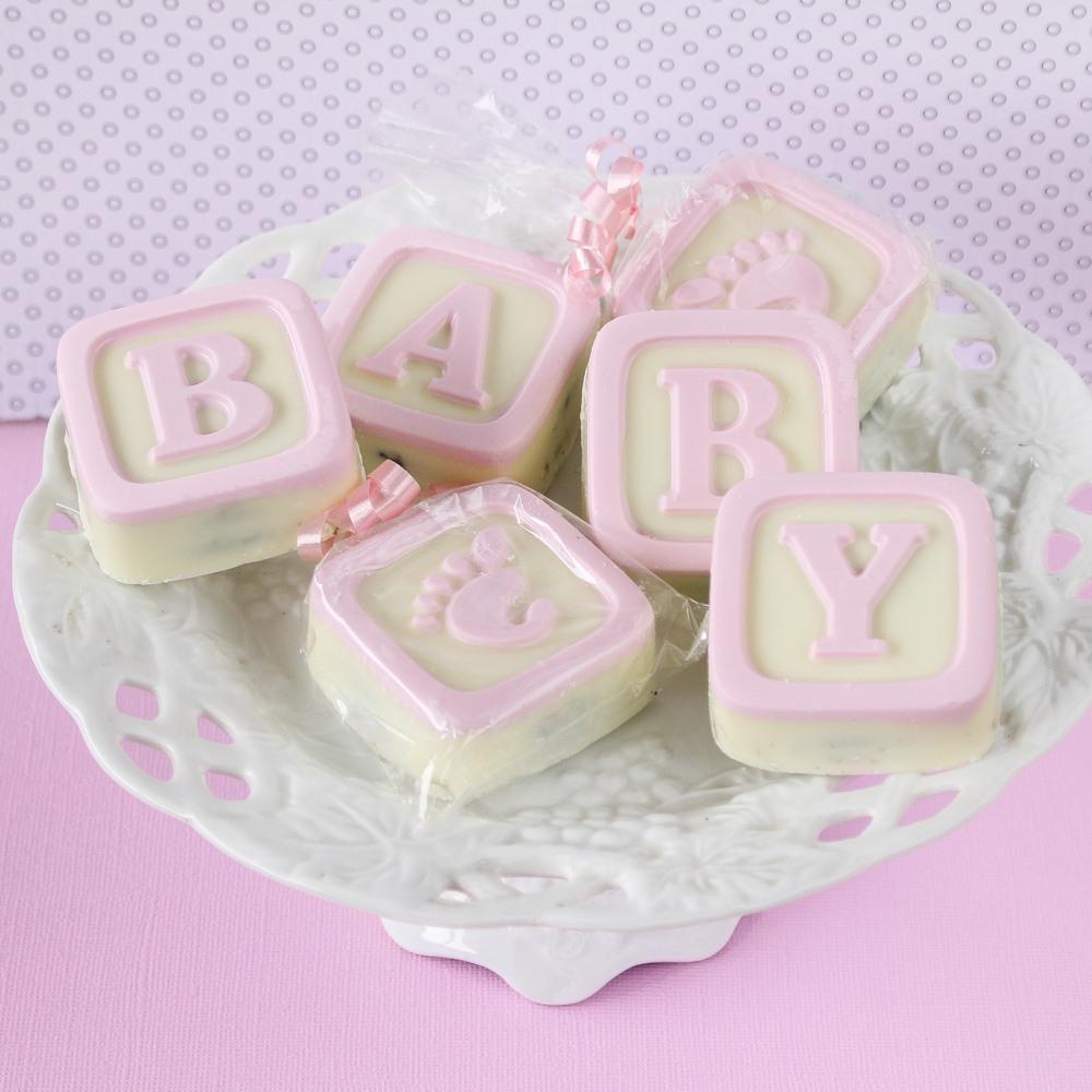 Baby Blocks White Chocolate Covered Pink Oreos