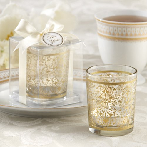 Golden Renaissance Glass Tea Light Holder 4333
