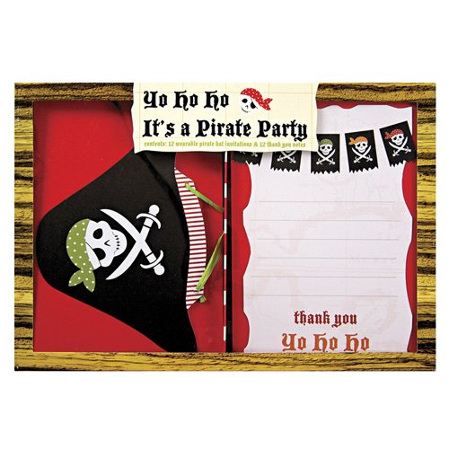 Pirate Party Invitations And Thank You Notes 4518