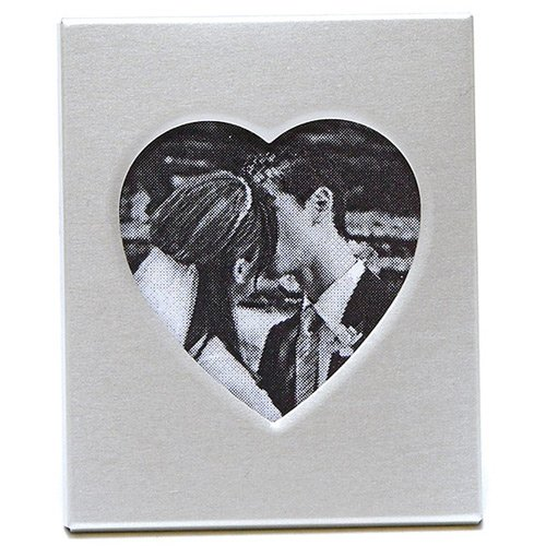 Mini Magnet Back Aluminum Heart Photo Frames 4596