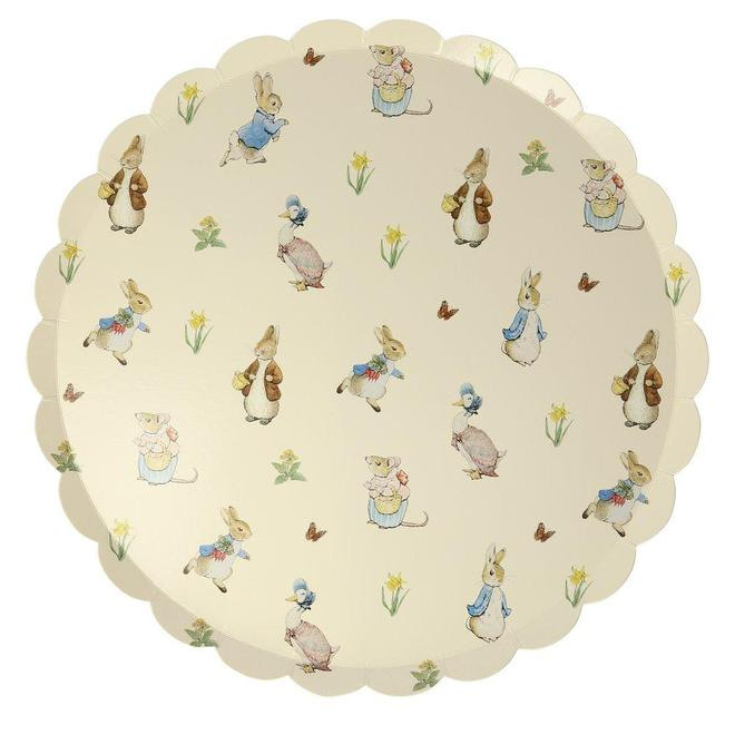Peter Rabbit Party Scallop Plates 4693