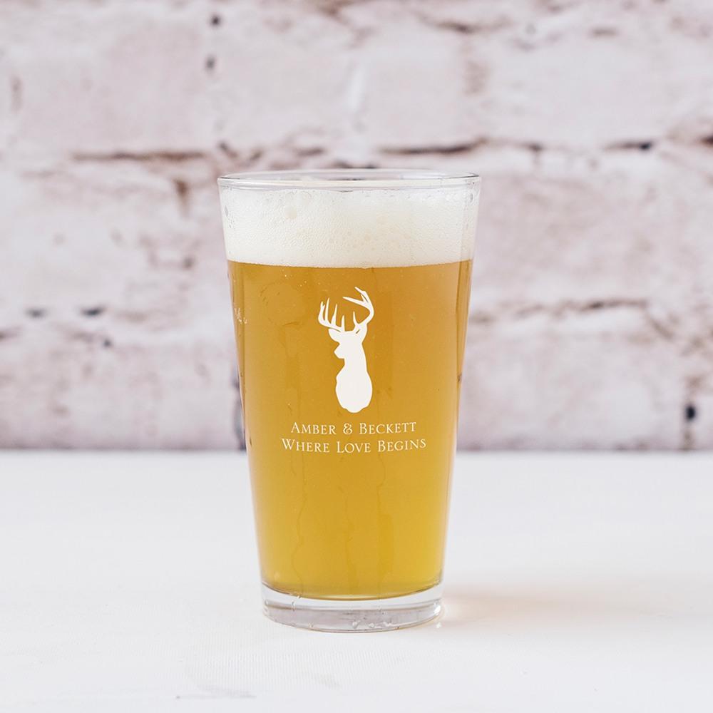 Personalized Woodland Pint Glass