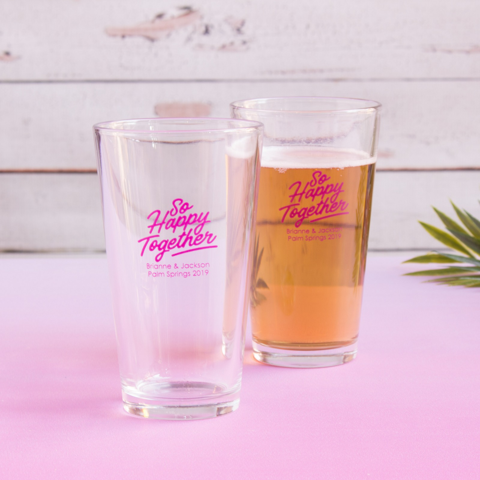 Personalized Happy Together Pint Glass