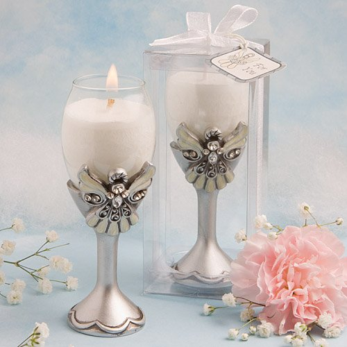 Angel Champagne Flute Candle Holders 4774