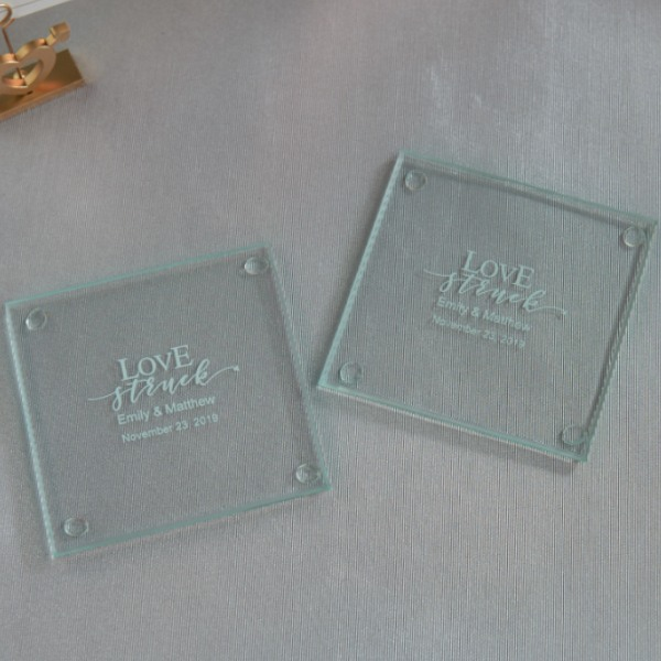 Love Struck Glass Coasters