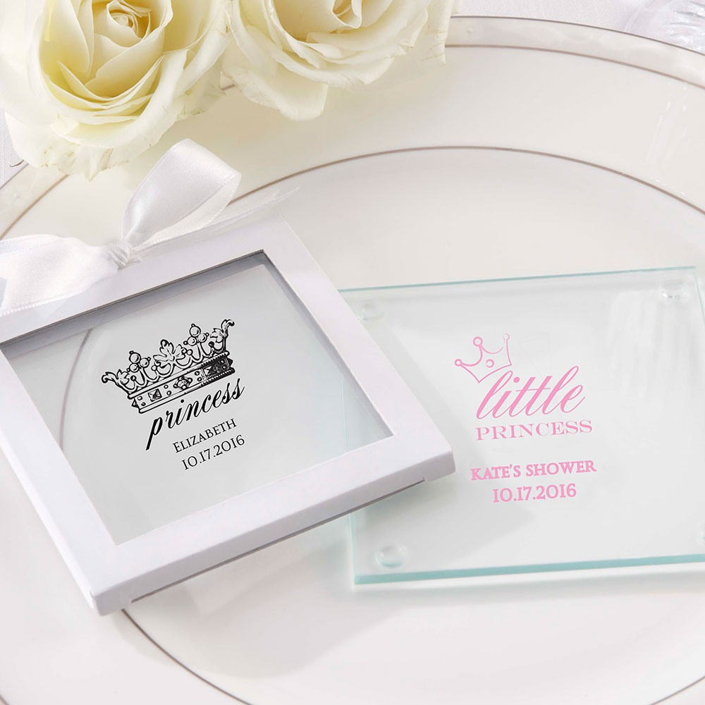 Personalized Princess Glass Coasters