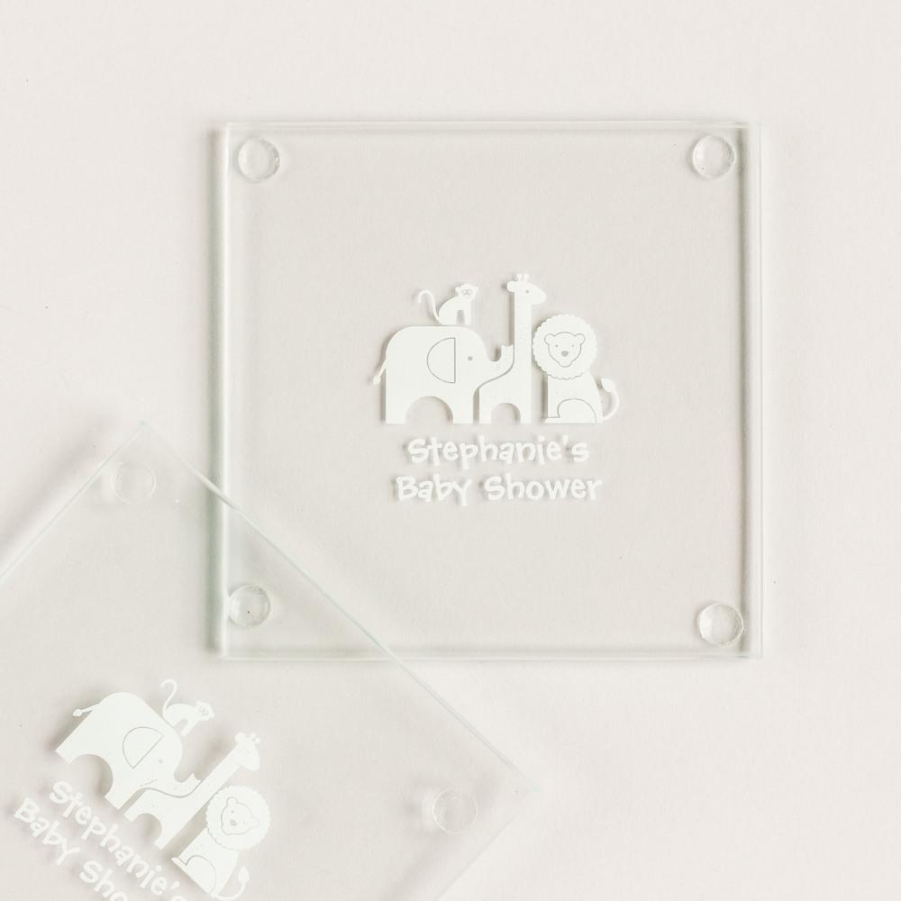 Personalized Safari Glass Coasters