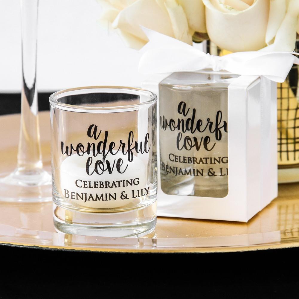 Personalized Wonderful Love Shot Glass Votive