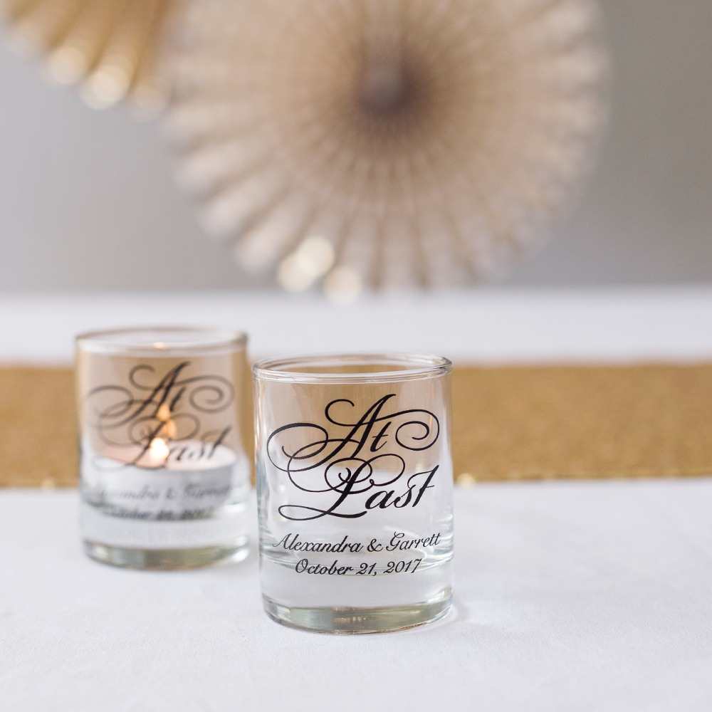 Personalized At Last Votive Holders