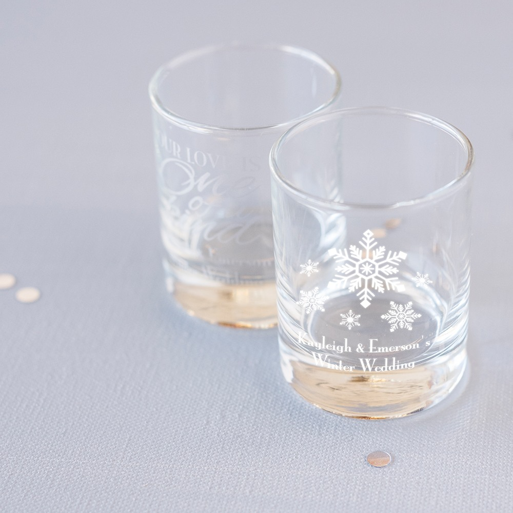 Personalized Winter Themed Votive Holders