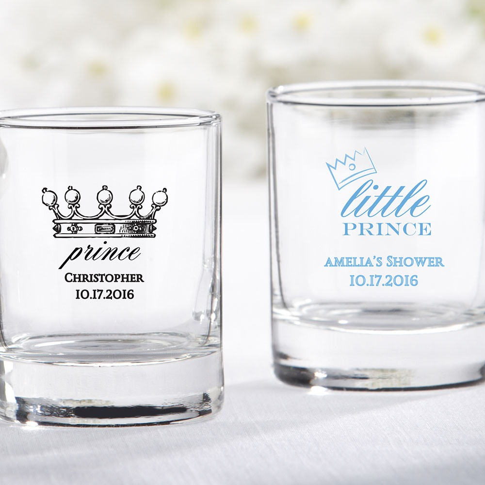 Personalized Prince Glass Votive Holders