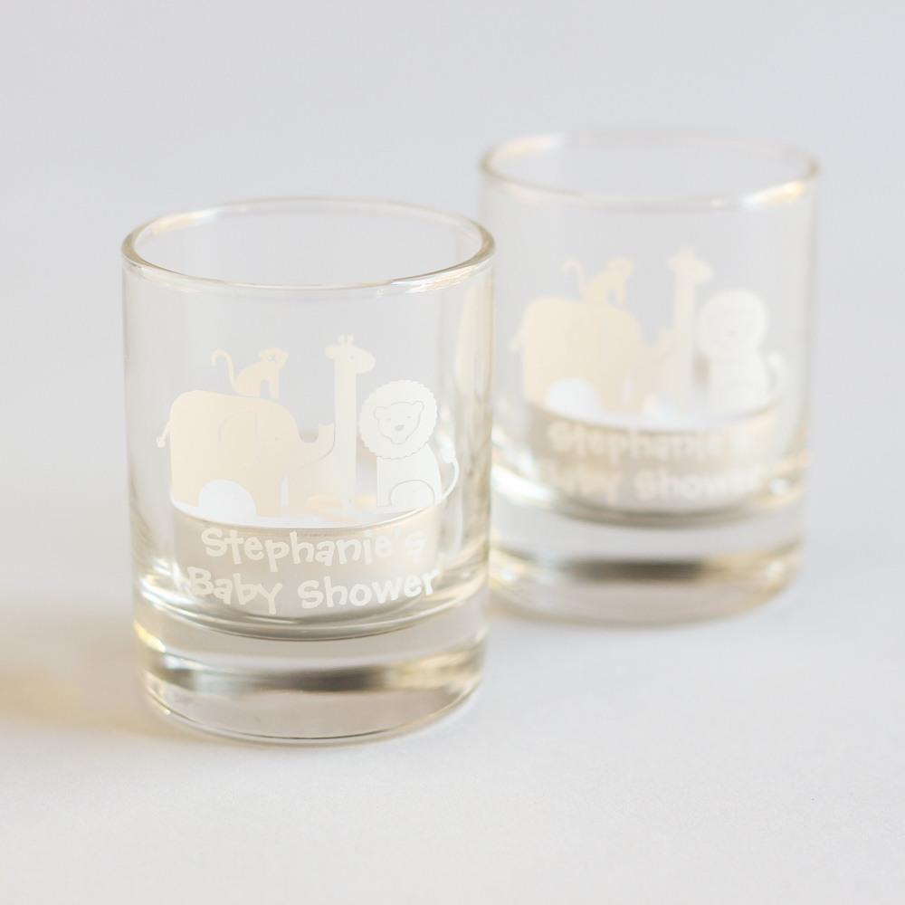 Personalized Safari Shot Glass Votive Holder