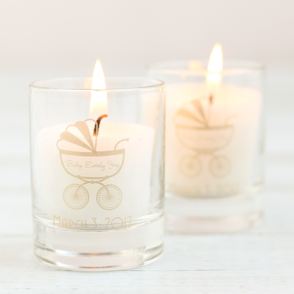 Personalized Carriage Shot Glass Votive Holder