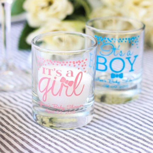 Personalized It's a Boy, It's a Girl Votive Holder