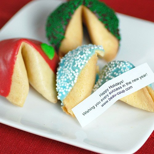 Custom Holiday Fortune Cookies