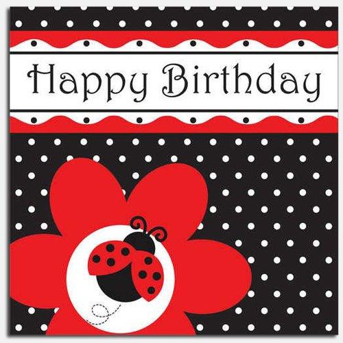 Ladybug Fancy Birthday Luncheon Napkins 5142
