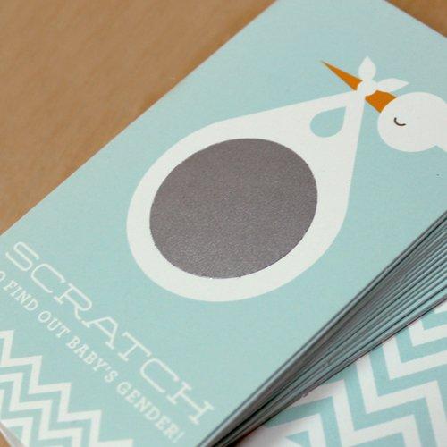 Stork Gender Reveal Scratch Cards 5451