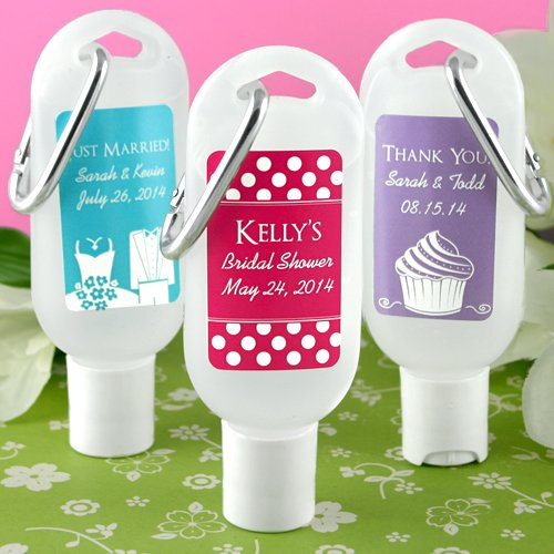 Wedding Silhouette Personalized Hand Sanitizer 5517