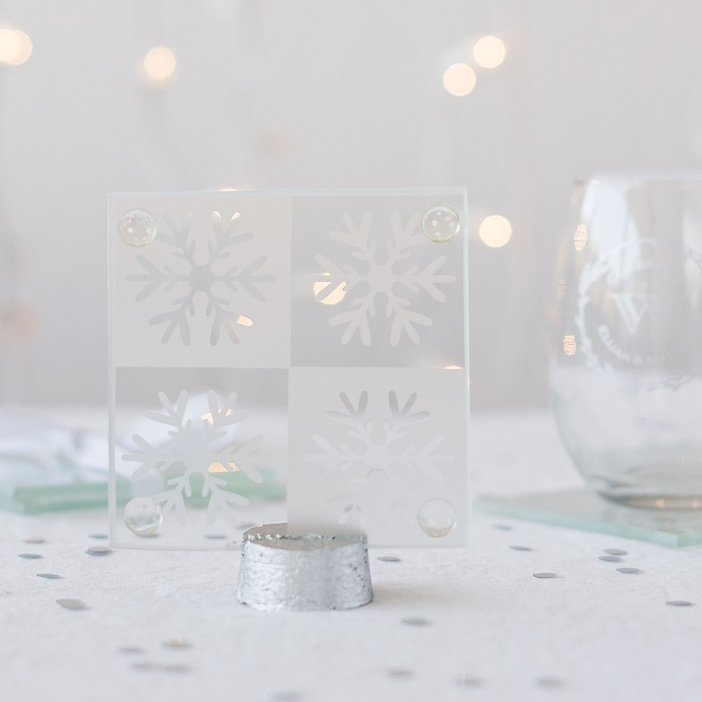 Snowflake Glass Coasters 5626