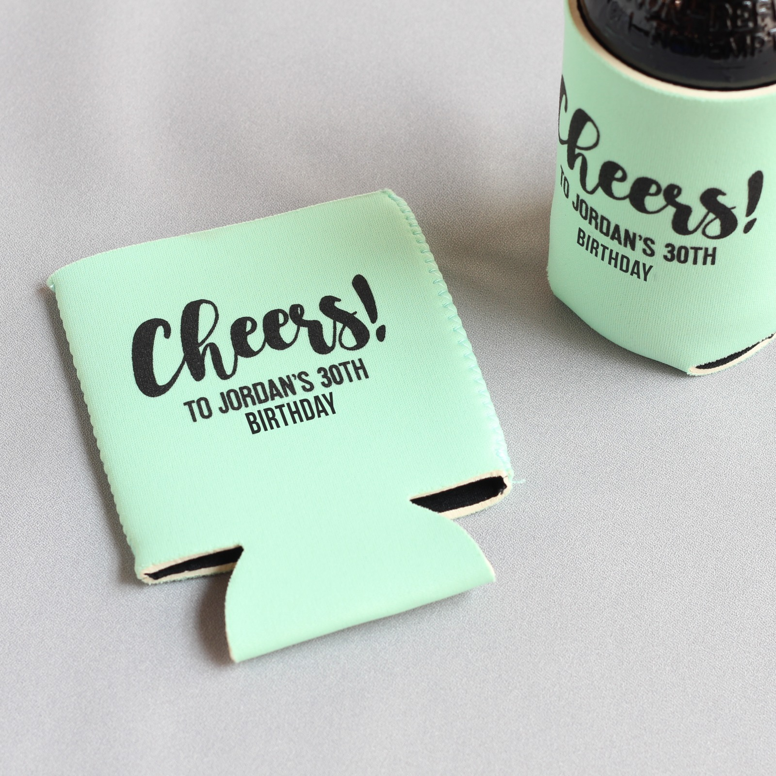 Personalized Cheers Birthday Can Sleeve