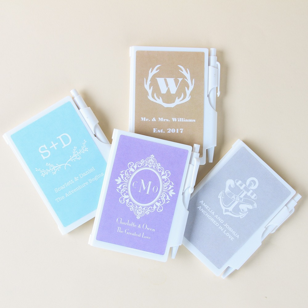 Personalized Monogram Notebook Favors
